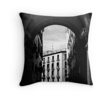Arches of Plaza Mayor Throw Pillow