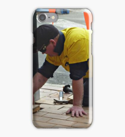 Men at work at Plaza Shopping Mall iPhone Case/Skin