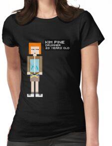 Kim Pine - Drummer - 8-Bit Womens Fitted T-Shirt