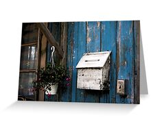 Wooden Mailbox Greeting Card