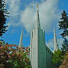 Portland Oregon LDS Temple by Nick Boren