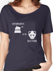 Daleks vs Cybermen - Exterminate or be Deleted Women's Relaxed Fit T-Shirt