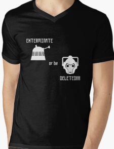 Daleks vs Cybermen - Exterminate or be Deleted Mens V-Neck T-Shirt