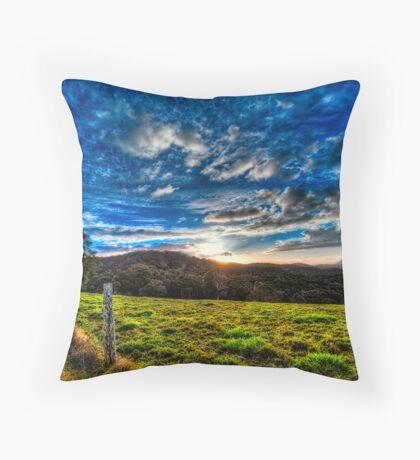 Blue Sky, Green Grass Throw Pillow