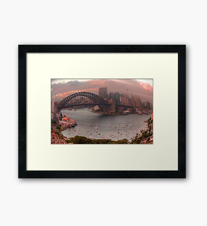 Twisted - Sydney Harbour, Sydney Australia - The HDR Experience Framed Print