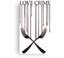 Love crime Canvas Print