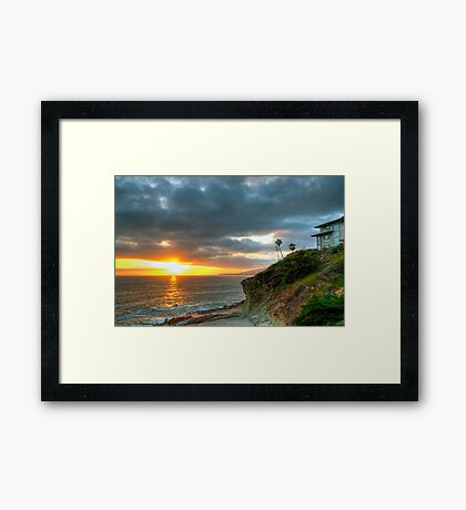 Laguna Beach Sunset Framed Print