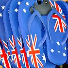 Aussie Thongs by Dean Bailey