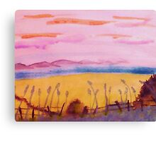 Peaceful place, watercolor Canvas Print