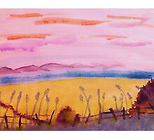 Peaceful place, watercolor Photographic Print