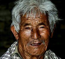 Elderly Man. Bhutan, Eastern Himalayas  by Carole-Anne