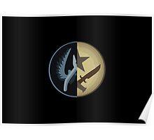 CSGO CT & T Emblem Poster