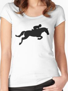 Horse Jump Women's Fitted Scoop T-Shirt