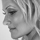 Just Beata.. profile in B&W  by Glynn Jackson