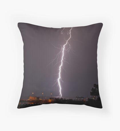 Christmas lightning Throw Pillow