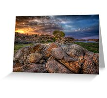 Rock Wall Split 2 Greeting Card