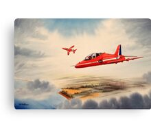 Bae Hawk T1a- The Red Arrows Canvas Print