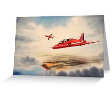 Bae Hawk T1a- The Red Arrows Greeting Card