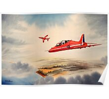Bae Hawk T1a- The Red Arrows Poster