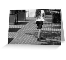 Street Walker Greeting Card
