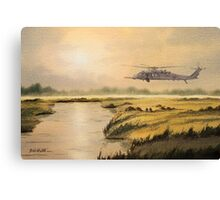 Pave Hawk Helicopter HH-60 On A Mission Canvas Print