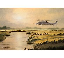 Pave Hawk Helicopter HH-60 On A Mission Photographic Print