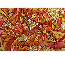 Abstract Tangerine Photographic Print