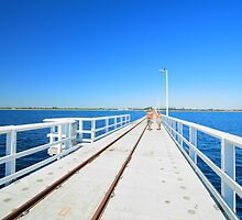 Summer Jetty Stroll, Busselton, Western Australia by Elaine Teague