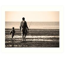 Right beside you..... Dad Art Print
