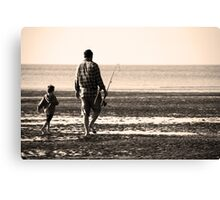 Right beside you..... Dad Canvas Print