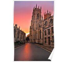A Minster Sunset Poster
