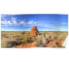 The great Australian outback Poster