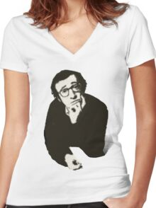 Woody aka Urban Neurotic Women's Fitted V-Neck T-Shirt