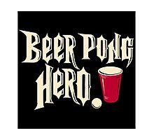 beer pong hero Photographic Print