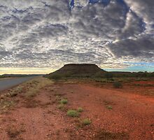Table top mountain at sunrise in the outback by MarcRusso