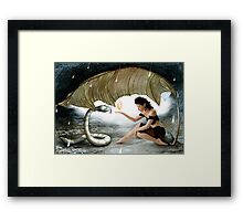 The Elf and the Snake Framed Print