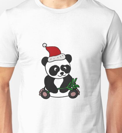 Awesome Panda Bear Christmas Design Unisex T-Shirt