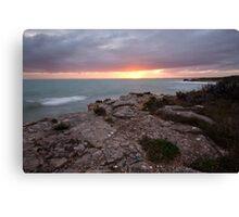 Hooper's Beach Sunrise, Robe Canvas Print