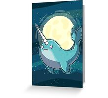 Space Narwhal Greeting Card