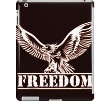 Eagle over lettering freedom drawn in engraving style iPad Case/Skin