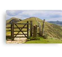 Win Hill and Losehill on the Great Ridge. Metal Print