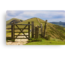 Win Hill and Losehill on the Great Ridge. Canvas Print