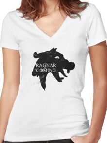 Ragnar is Coming Women's Fitted V-Neck T-Shirt