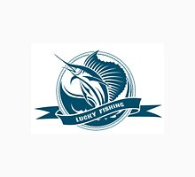 Nautical retro label with jumping sail fish Unisex T-Shirt