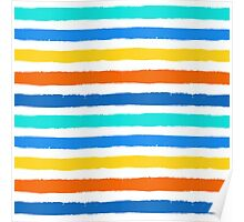 Brush Strokes Colorful Seamless Pattern Poster