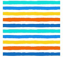 Brush Strokes Colorful Seamless Pattern Photographic Print