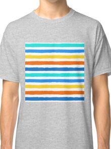 Brush Strokes Colorful Seamless Pattern Classic T-Shirt