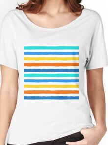 Brush Strokes Colorful Seamless Pattern Women's Relaxed Fit T-Shirt