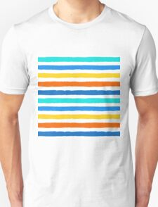 Brush Strokes Colorful Seamless Pattern T-Shirt