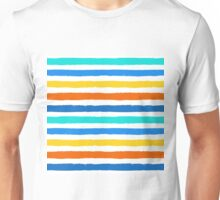 Brush Strokes Colorful Seamless Pattern Unisex T-Shirt